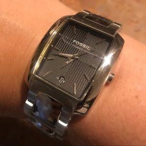 Silver w/ black face - Fossil women's watch
